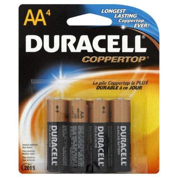 Duracell AA Alkaline Batteries, 4pk