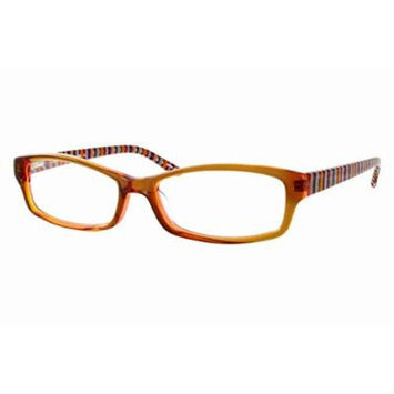 Eddie Bauer Designer Reading Glass Frames EB8245 in Cognac ; Demo Lens