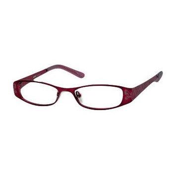 Seventeen 5335 in Burgundy Designer Reading Glass Frames ; Demo Lens