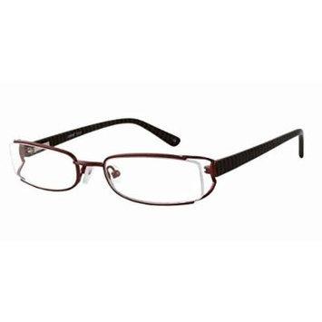 Seventeen 5308 in Brown Designer Reading Glass Frames ; Demo Lens