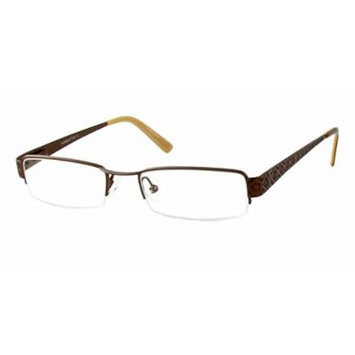 Seventeen 5357 in Brown Designer Reading Glass Frames ; Demo Lens