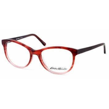 Eddie Bauer Designer Reading Glass Frames EB8295 in Matte Burgundy Fade ; Demo Lens