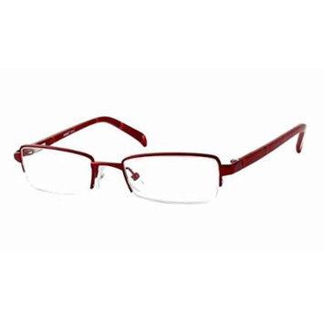 Seventeen 5311 in Burgundy Designer Reading Glass Frames ; Demo Lens