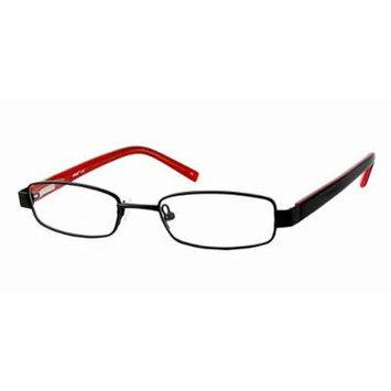 Seventeen 5327 in Black Red Designer Reading Glass Frames ; Demo Lens