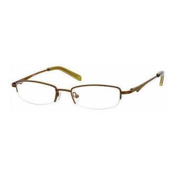 Seventeen 5313 in Brown Designer Reading Glass Frames ; Demo Lens