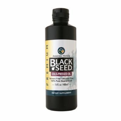 Amazing Herbs Black Seed Cold-Pressed Oil 16 fl oz (480 ml)