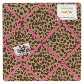 Sweet JoJo Designs Cheetah Girl Photo Memo Board- Pink, Camel,