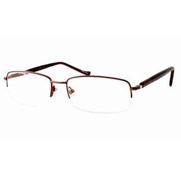 Woolrich 7790 in Dark in Brown (57 MM) Designer Reading Glass Frames ; Demo Lens