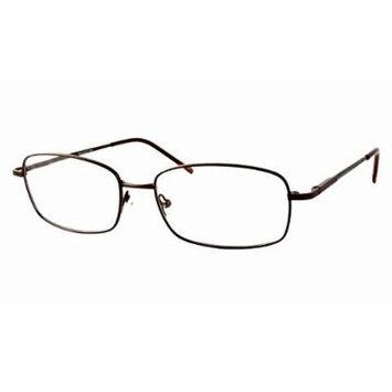 Woolrich 7804 in Brown Designer Reading Glass Frames ; Demo Lens