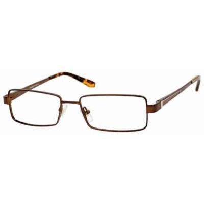 Woolrich 7832 in Satin Brown Designer Reading Glass Frames ; Demo Lens