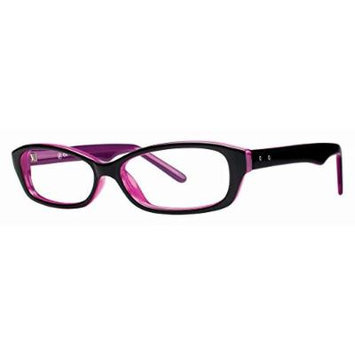 Soho 108 in Black Purple Designer Reading Glass Frames ; Demo Lens