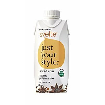 CalNaturale Svelte Organic Protein Shake, Spiced Chai, 11 Ounce (Pack of 8)