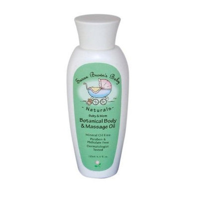 Susan Brown's Baby Sensitive Baby Botanical Body & Massage Oil, Fragrance Free, 4.17-Ounce Bottle