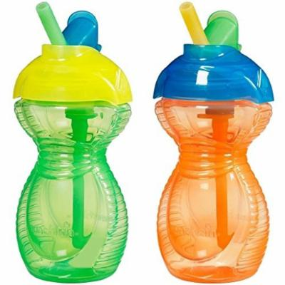 Munchkin Click Lock Flip Straw Cups BPA Free 2- Pack (Orange/Green)