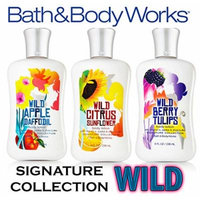 Bath & Body Works Signature Collection Wild Body Lotion 8oz (Set of 3) - Citrus Sunflower, Apple Daffodil & Berry Tulips