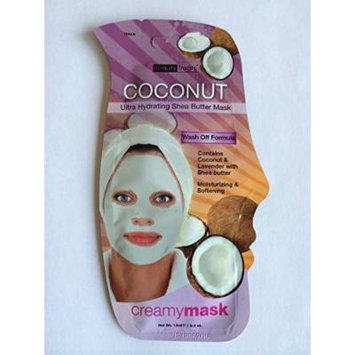 Coconut Ultra Hydrating Shea Butter Cleansing Peel-off Creamy Mask .3oz (Pack of 6)