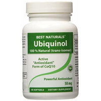 Best Naturals -- Ubiquinol Clinically Proven kaneka QH -- 50 mg -- 60 Softgels
