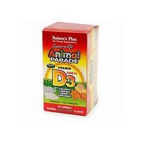 Nature's Plus Animal Parade Vitamin D3 500 IU Children's Chewable, Black Cherry 90 tablets
