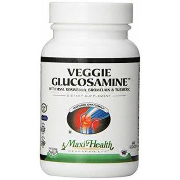 Maxi Health Veggie Glucosamine - with MSM - Vegetarian Joint Formula - 60 Capsules - Kosher