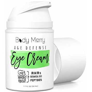 Eye Cream For Dark Circles & Puffiness - Best Anti-Aging Moisturizer with 50+ Ingredients like Hyaluronic Acid + Natural & Organic Oils + Glycolic Acid to Fight Wrinkles & Lines - For Men Too - 1.7 fluid oz