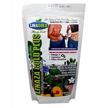 Linaza Gold Plus 425 Gram 15 Oz Flaxseed Powder Mix with Nopal, Plum & Senna Leaf