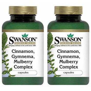 Swanson Premium Cinnamon Gymnema Mulberry Complex -- 2 Bottles each of 120 Capsules