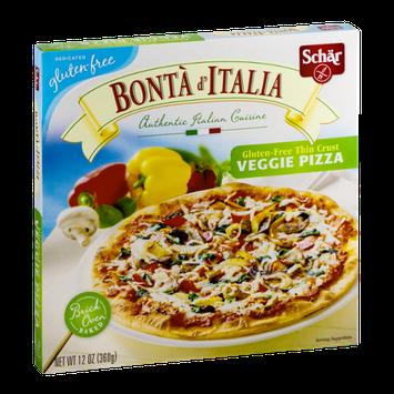 Schar Bonta d' Italia Gluten-Free Thin Crust Pizza Veggie