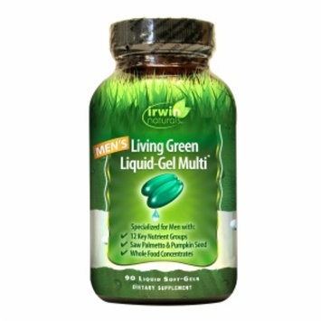 Irwin Naturals Men's Living Green Liquid-Gel Multi Soft-Gels