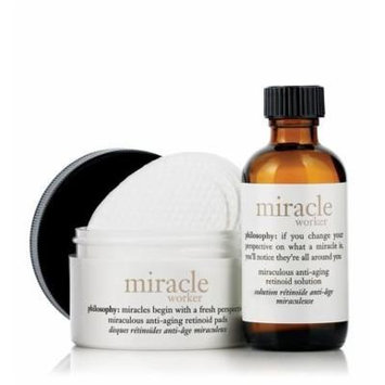 Miracle Worker Miraculous Anti-aging Retinoid Pads (15 Ct.) & Miraculous Anti-aging Retinoid Solution (0.5 Oz) Travel Set