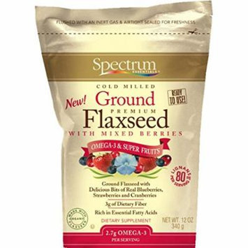 Spectrum Essentials Ground Flaxseed with Mixed Berries, 12 Ounce Pouch (Pack of 2)