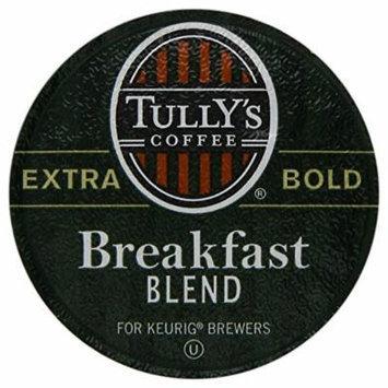 Keurig, Tully's Breakfast Blend, Light Roast Coffee Extra Bold 24 K-Cup Single Serve Packs
