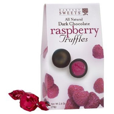 Harvest Sweets Raspberry Truffles, Dark Chocolate Shell 2.6 Oz