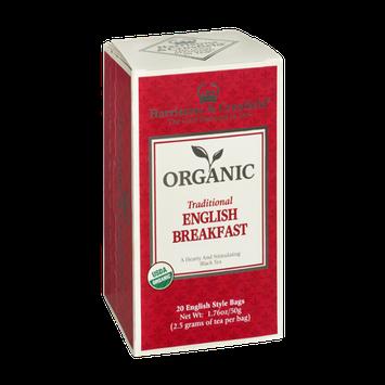 Harrisons & Crosfield Organic Traditional English Breakfast Tea 20 English Style Tea Bags