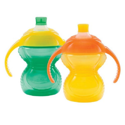 Munchkin Click Lock 7 Ounce Trainer Cup - 2 Pack - Green/Yellow