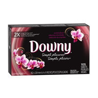Downy Simple Pleasures Orchid Allure Fabric Softener Sheets 105 Count (Pack of 9)