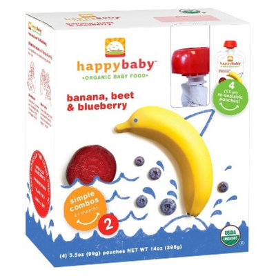 Happy Tot Happy Baby Organic Baby Food - Bananas, Beet & Blueberry 3.5 oz 4 pk