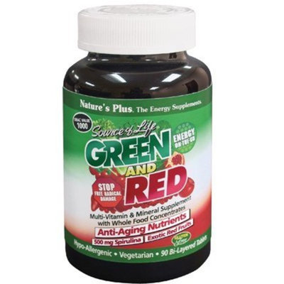 Nature's Plus Source of Life Green and Red 90 Tabs