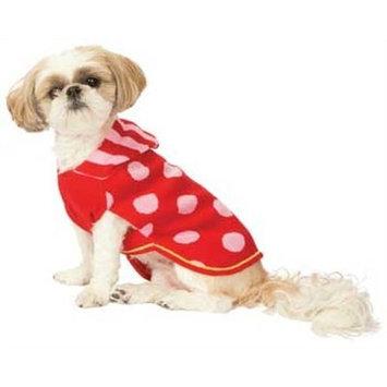 Fashion Pet Red Spot Hoodie Dog Sweater