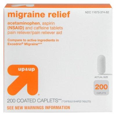 up & up up&up Migraine Relief Caplets - 200 Count