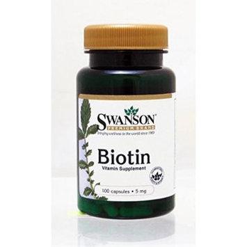 Swanson Biotin 5mg 100caps (4)
