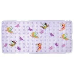 Ginsey Disney Fairies Dimensional Vinyl Bath Mat - Lavender
