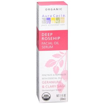 Aura Cacia Deep Rosehip Facial Oil Serum Geranium & Clary Sage