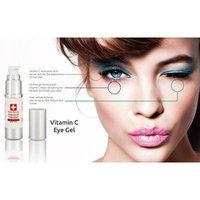 Eye Gel For Dark Circles, Bags & Wrinkles with Pure Vitamin C Hyaluronic Acid Serum
