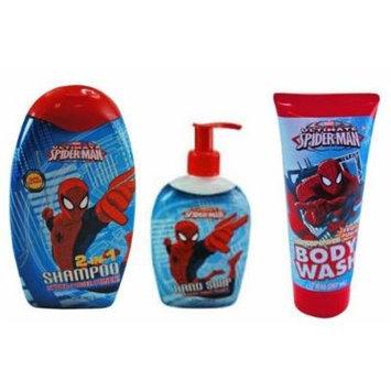 Spiderman Hand Soap + Shampoo + Body Wash Set