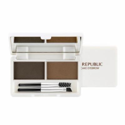 Nature Republic - Botanical Cake Eyebrow - 01 Khaki Gray + Dark Brown - Make Up