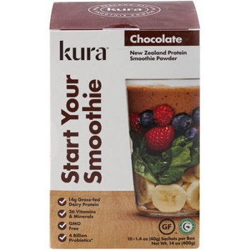 White Cloud Nutrition, Llc Kura Chocolate Protein Smoothie Powder, 1.4 oz, 10 count
