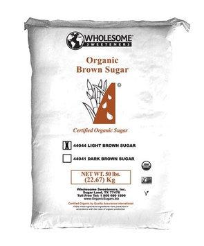 Wholesome Sweeteners BCA47132 Og2 Light Brown Sugar 1 x 50 lbs