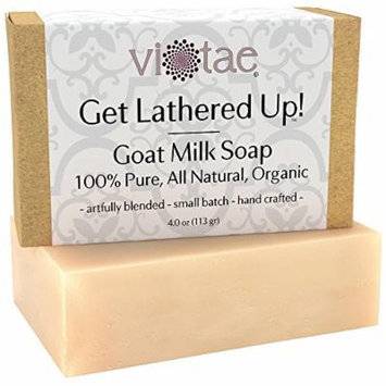 Organic GOAT MILK Soap - by Vi-Tae® - 100% Pure, All Natural, Aromatherapy Luxury Herbal Bar Soap - 4oz