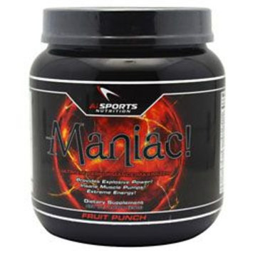 AI Sports Nutrition Maniac! [Fruit Punch 1.81 lb (29oz)]
