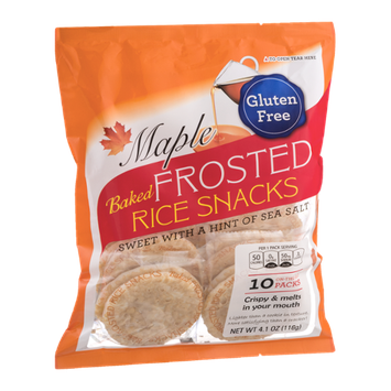 Kameda Baked Frosted Rice Snacks On-The-Go Packs Maple - 10 CT